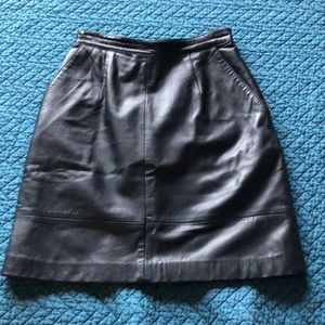 Vintage 100% REAL LEATHER skirt